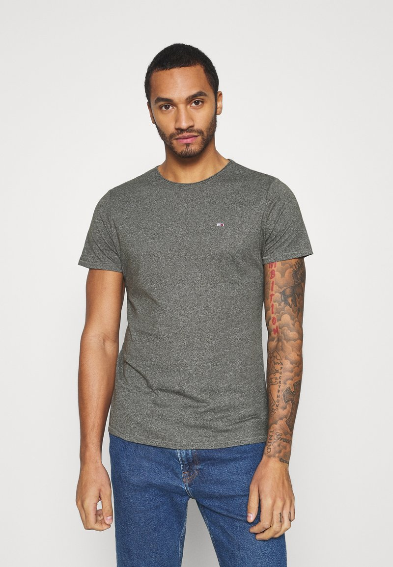 Tommy Jeans - ESSENTIAL JASPE TEE - T-shirt basic - dark olive