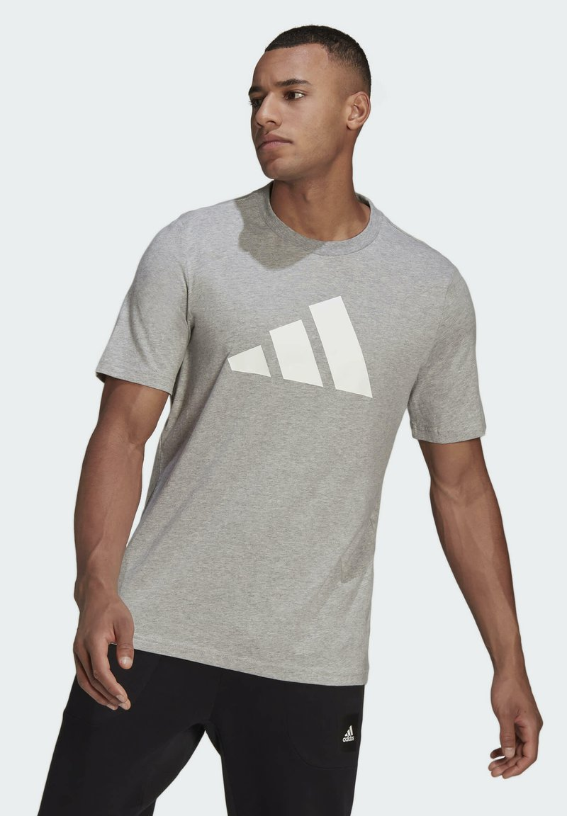 adidas Performance - BADGE OF SPORT - Print T-shirt - grey