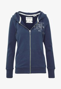 Superdry - TRACK FIELD ZIPHOOD - Hettejakke - navy - 3