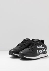 KARL LAGERFELD - VELOCITOR II METEOR BRUSH LOGO - Zapatillas - black/white - 2