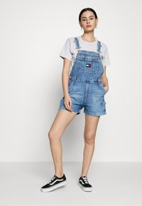 Tommy Jeans - DUNGAREE - Dungarees - blue denim - 1