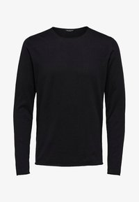 Selected Homme - SLHDOME CREW NECK - Jumper - black - 0