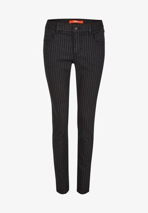 MIT FEINEM STREIFEN - Jeans Skinny Fit - schwarz