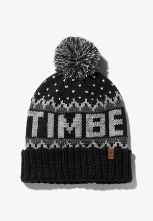 LOGO CUFFED POM HAT POMEGRANATE - Pipo - black