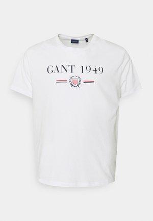 CREST - Camiseta estampada - white
