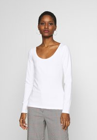 Anna Field - 2 PACK - Langærmede T-shirts - black/white - 3
