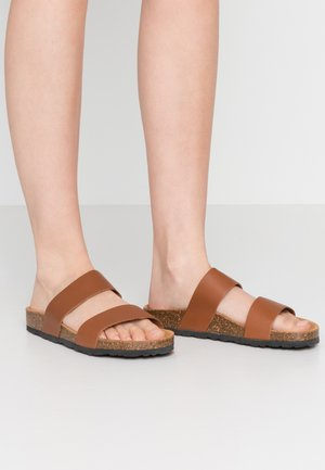 BIABETRICIA TWIN STRAP - Slippers - cognac