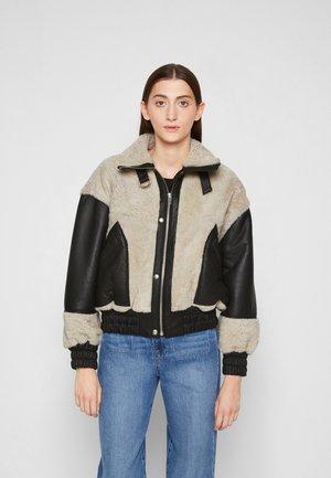 HOTARO - Leather jacket - black/natural