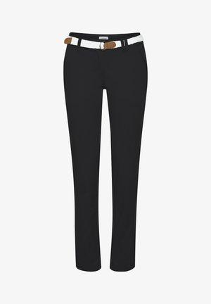 CHAKIRA - Chino kalhoty - black