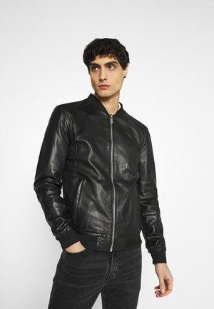 BORN - Kožená bunda - black