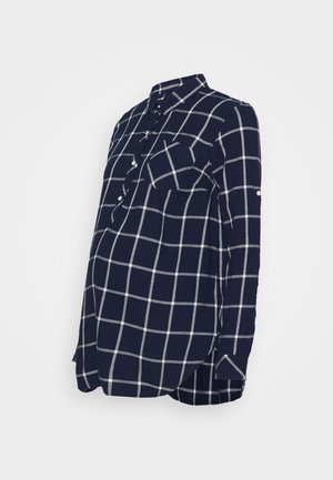 DRAPEY PLAID MATERNITY - Blouse - navy windowpane