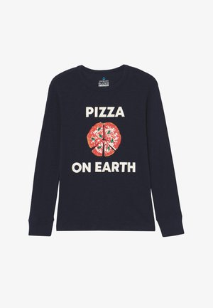 PIZZA ON EARTH - Long sleeved top - dark blue