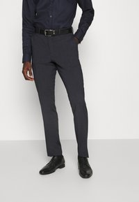 Selected Homme - SLIM FIT DOUBLE BREASTED SUIT - Oblek - dark blue/grey - 4