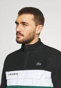 Lacoste Sport - TRACKSUIT - Trainingspak - black/bottle green - 5