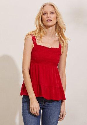 GLORIA - Top - cherry red