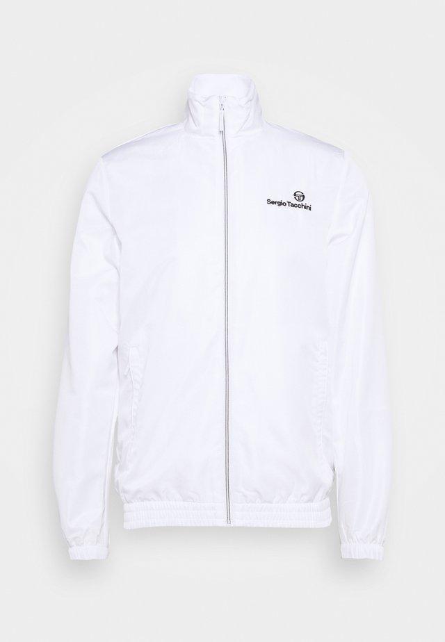CARSON - Treningsjakke - blanc de blanc/antracite