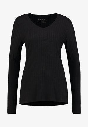V AUSSCHNITT - Long sleeved top - schwarz orig