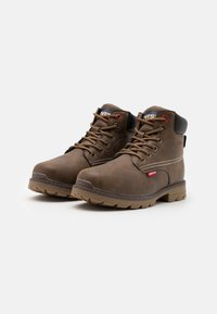 Levi's® - NEW FORREST MID - Lace-up ankle boots - brown/black - 1