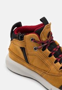 Geox - AERANTER BOY ABX - High-top trainers - light brown/dark red - 5