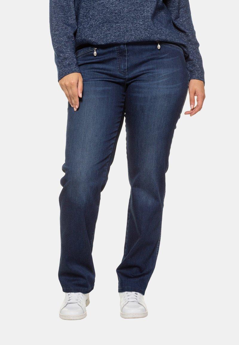 Ulla Popken - Straight leg jeans - blue denim