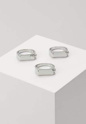 BOLT SIGNET 3 PACK - Ring - silver-coloured