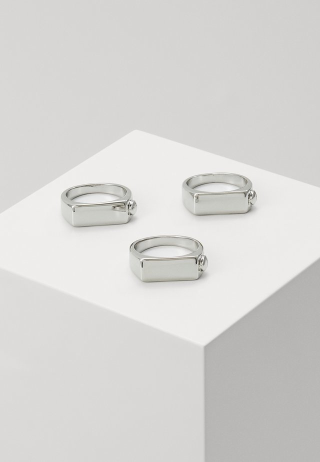 BOLT SIGNET 3 PACK - Anillo - silver-coloured