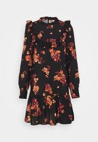 BAILEY FLORAL MINI - Denní šaty - black