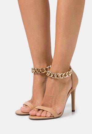TEIGAN REMY - Sandály na vysokém podpatku - nude