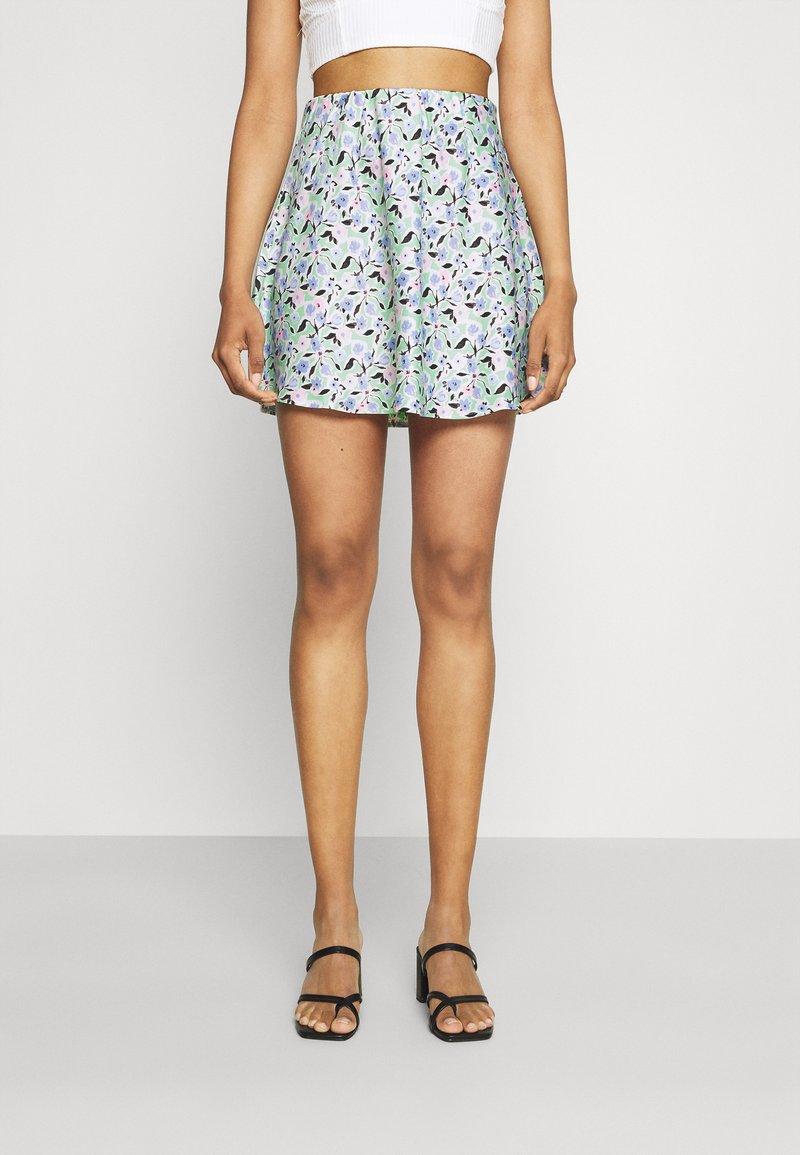 Gina Tricot - JANE SKIRT - Mini skirt - multi-coloured