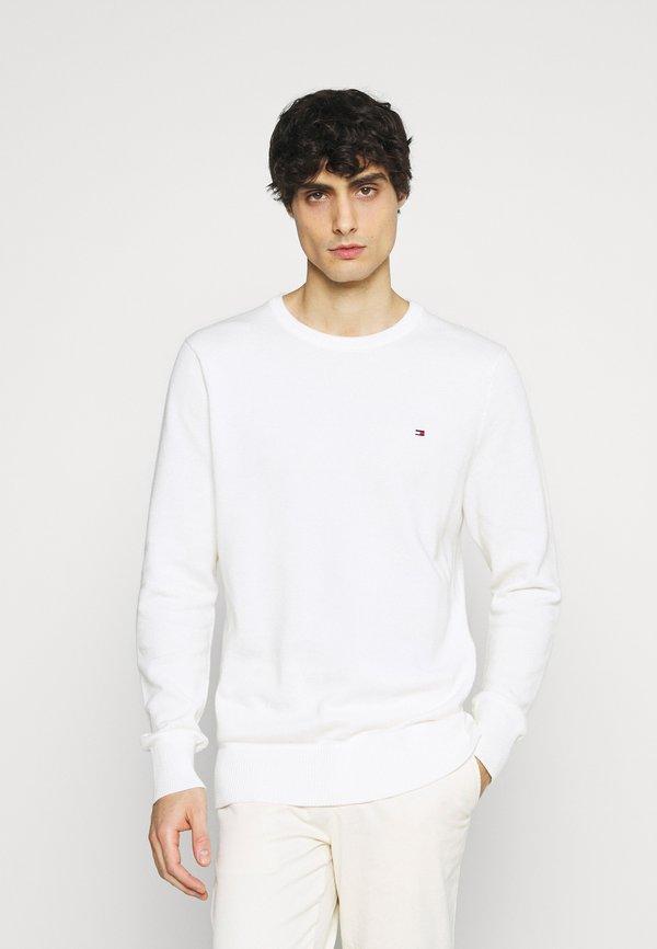 Tommy Hilfiger CREW NECK - Sweter - ivory/biały Odzież Męska EEGI