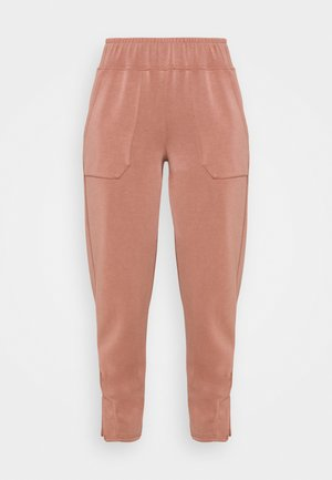 YASCOMO CROP PANT - Pantalon de survêtement - cognac