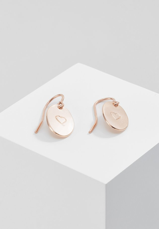 Oorbellen - rose gold-coloured
