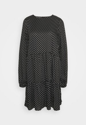 VMFIE DRESS - Day dress - black/birch dot
