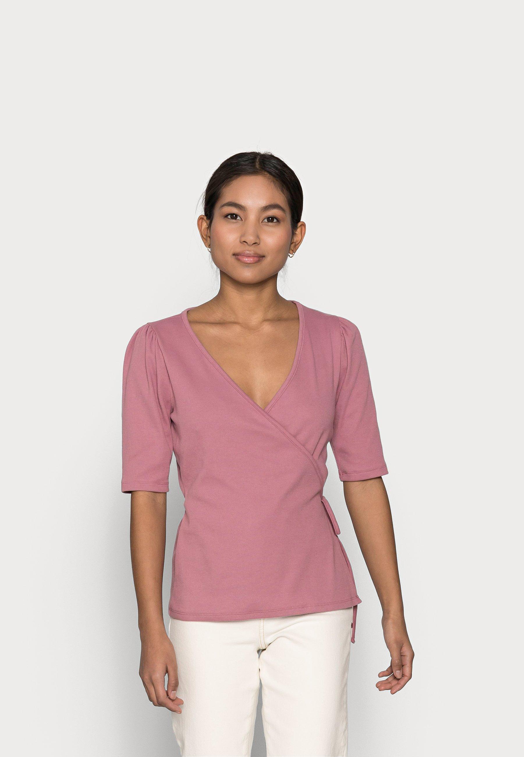 Women WRAP  - Print T-shirt - wispy mauve