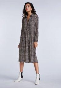 SET - Shirt dress - light stone grey - 1