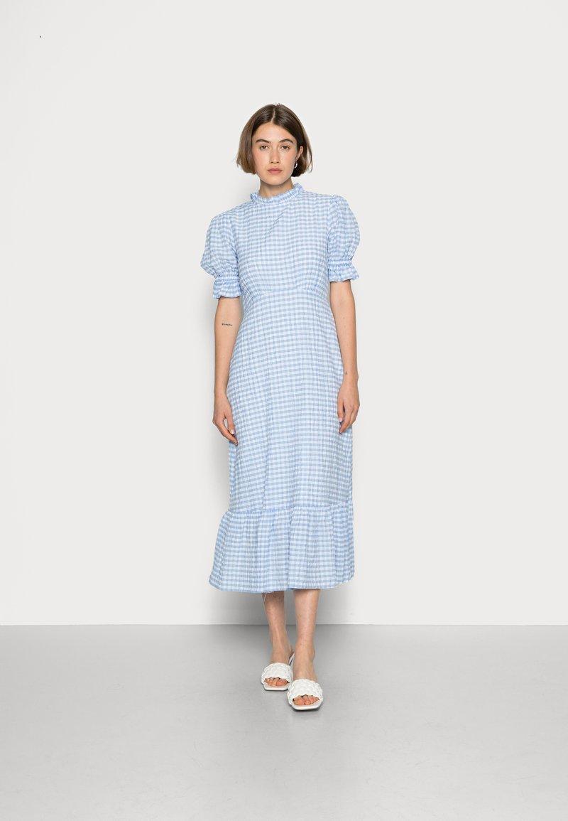 Ghost - SOLENE DRESS - Maxi dress - blue gingham