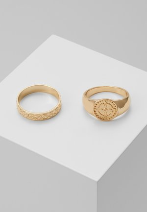 SIGNET 2 PACK - Ring - gold-coloured