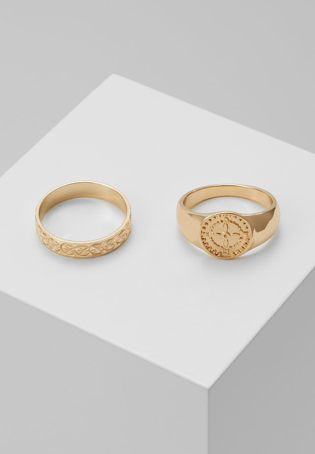 SIGNET 2 PACK - Anillo - gold-coloured