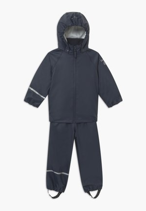 BASIC RAINWEAR SET UNISEX - Rain trousers - dark navy