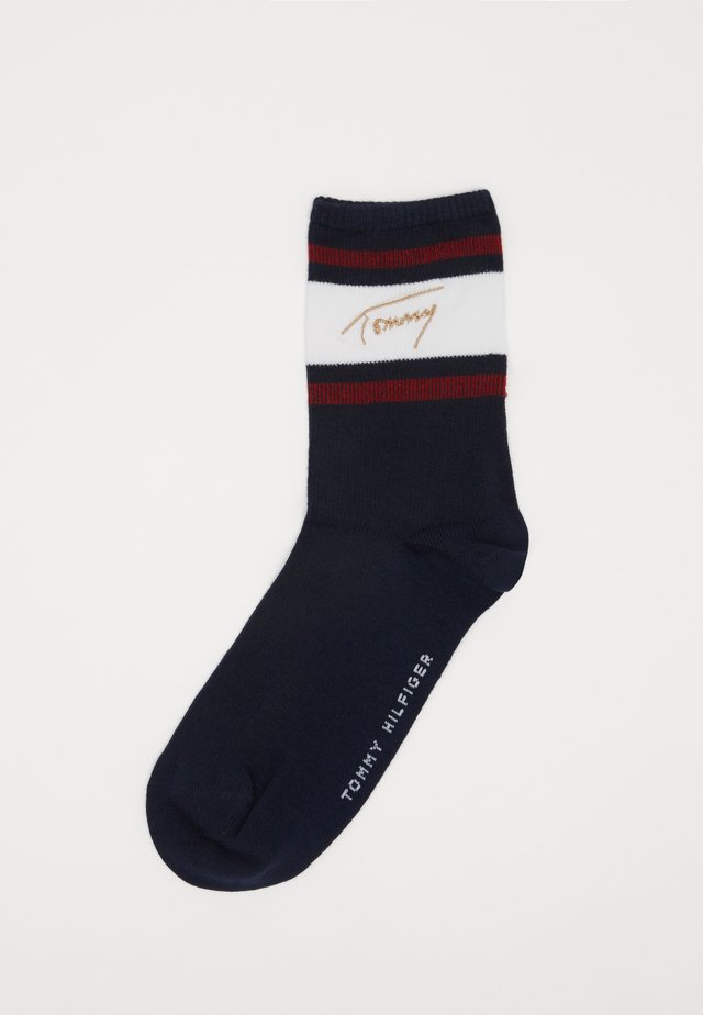 SHORT SOCK SIGNATURE - Calze - navy