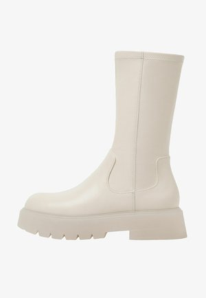 Platform boots - stone