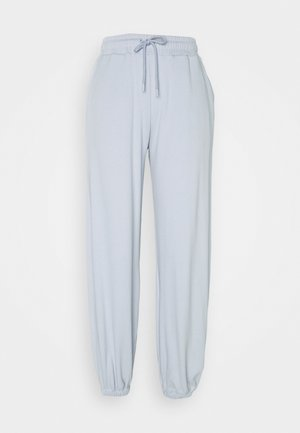 HIGH WAIST JOGGERS - Tracksuit bottoms - light blue