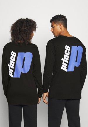 BACK PRINT TEE UNISEX - Long sleeved top - black