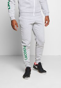 Lacoste Sport - TRACKSUIT - Survêtement - silver chine/green/white - 2