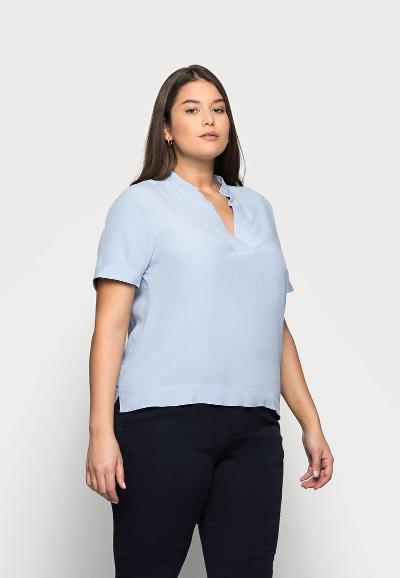 Selected Femme Curve - SLFALLA CURVE - Bluser - cashmere blue
