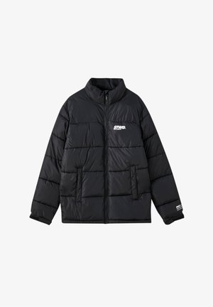 Winterjacke - black denim