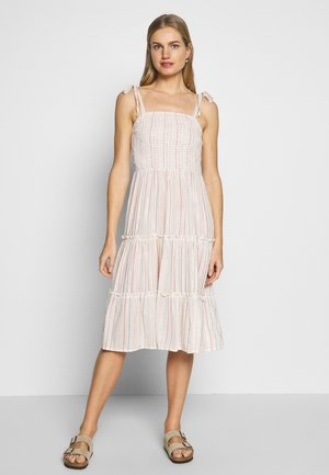 STRIPE TIERED MIDI DRESS - Beach accessory - multicoloured