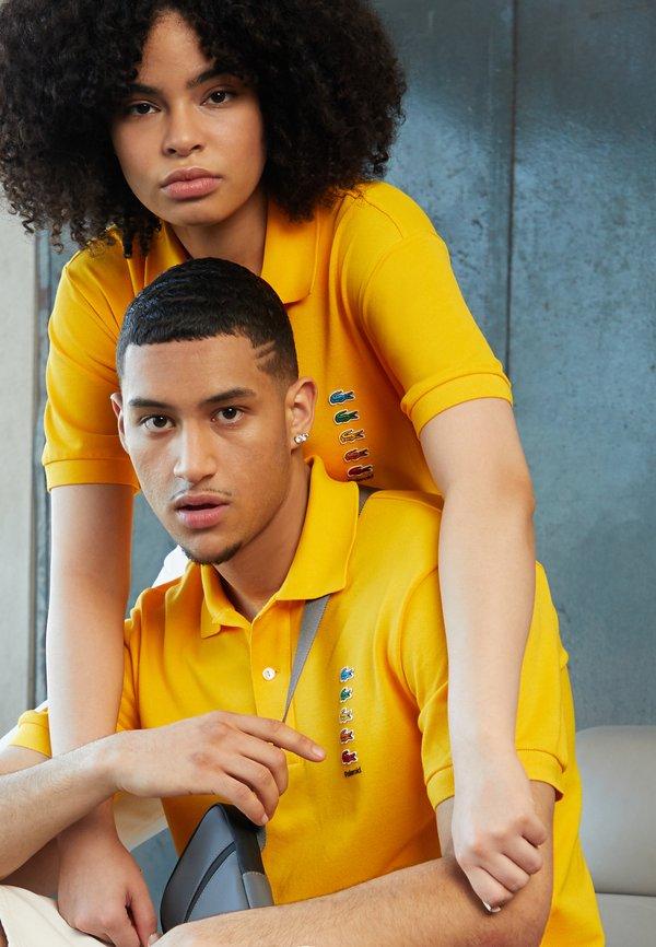 Lacoste POLAROID UNISEX - Koszulka polo - gypsum/żÓłty Odzież Męska AEEP