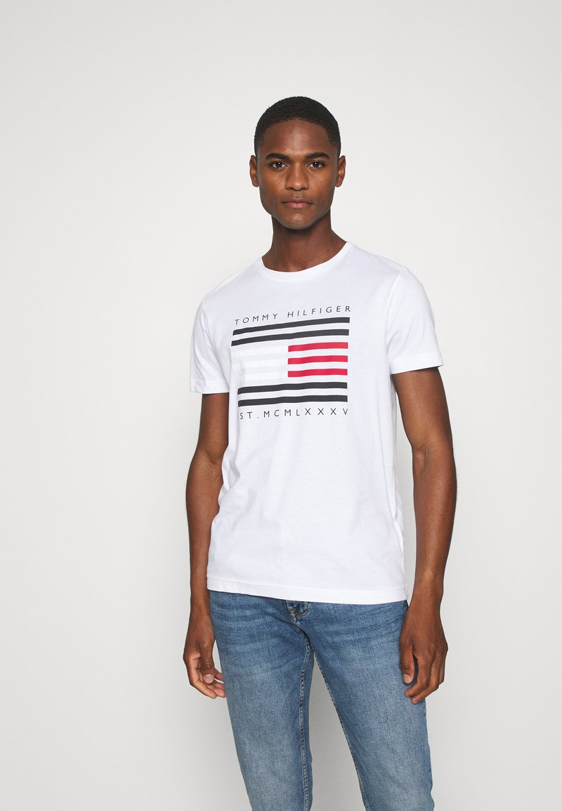 Tommy Hilfiger - T-shirt con stampa - white