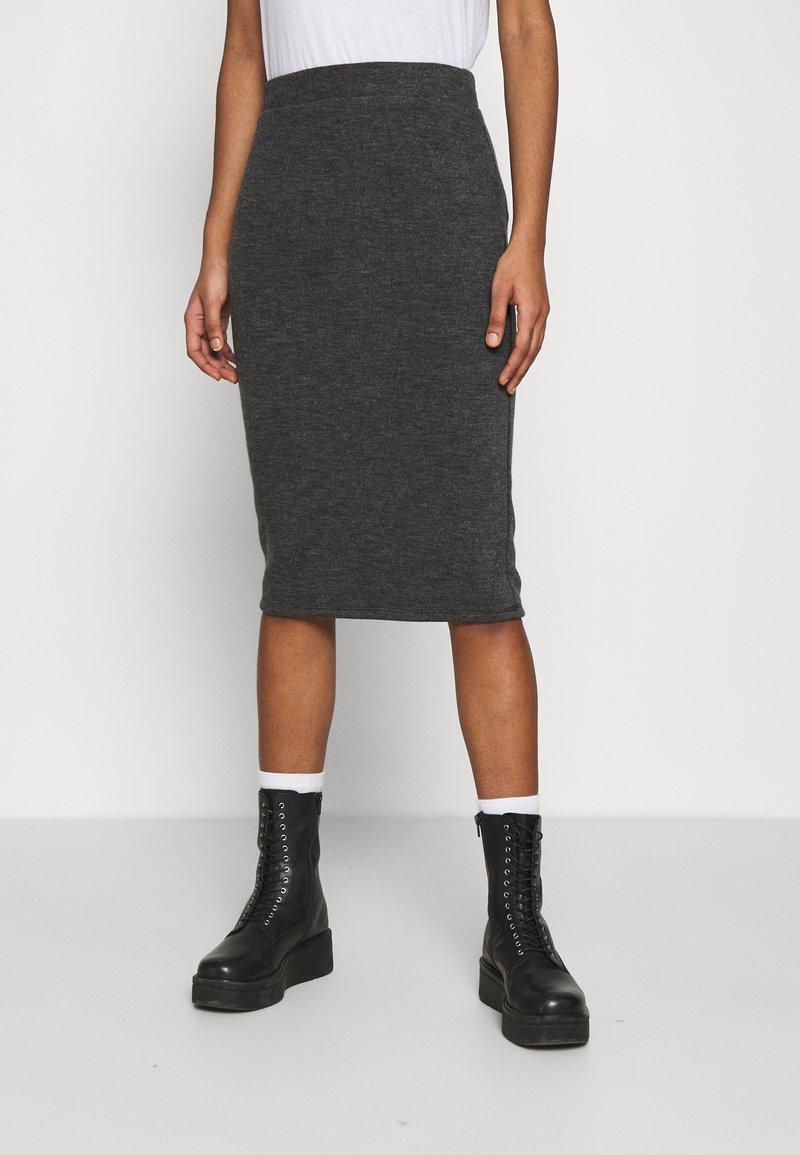 Vila - VIMANY  - Pencil skirt - dark grey melange